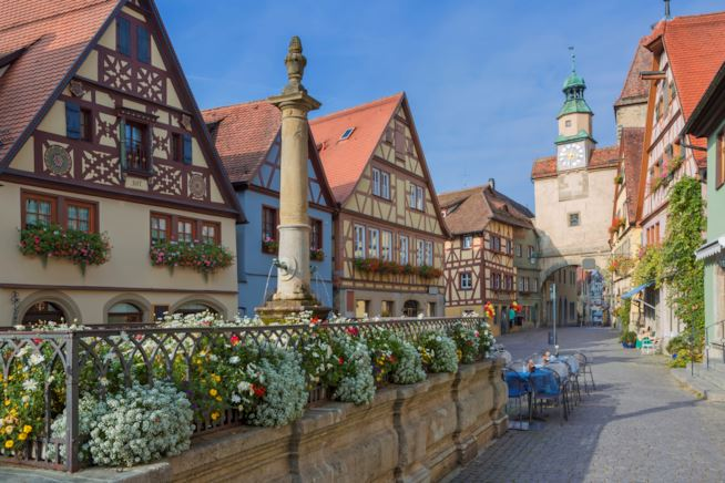 Vista di Rothenburg ob der Tauber