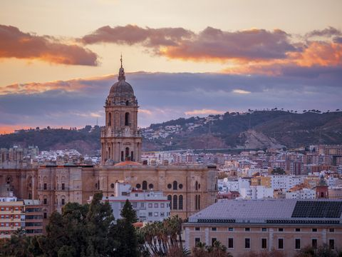 spanish cities  malaga cathedral